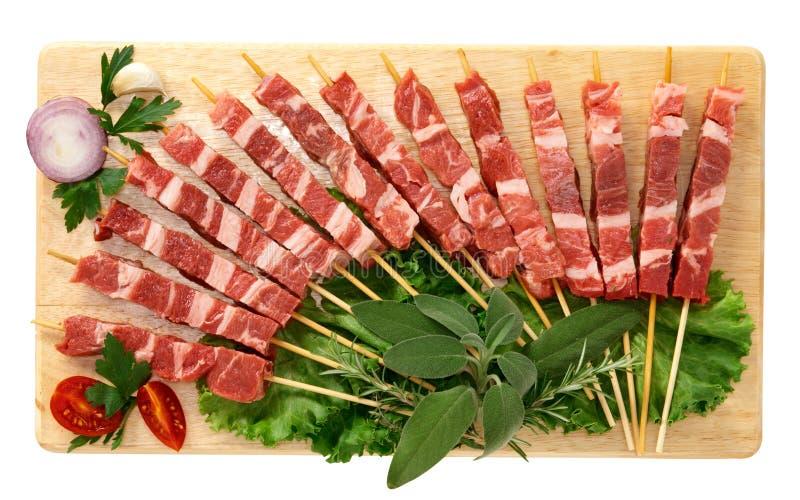 Skewers da carne fotografia de stock
