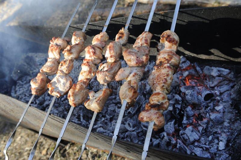 skewres мяса барбекю стоковые фото