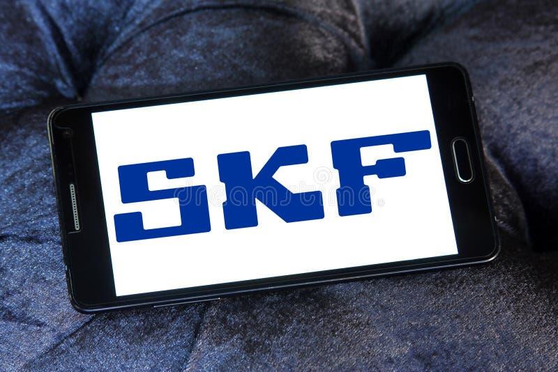 SKF company logo. Logo of SKF company on samsung mobile. SKF is a leading bearing and seal manufacturing company. The company manufactures and supplies bearings royalty free stock photography