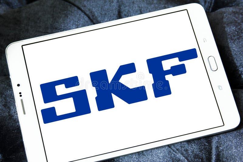 SKF company logo. Logo of SKF company on samsung tablet. SKF is a leading bearing and seal manufacturing company. The company manufactures and supplies bearings royalty free stock images