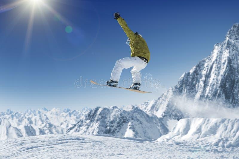 Skiër royalty-vrije stock afbeelding