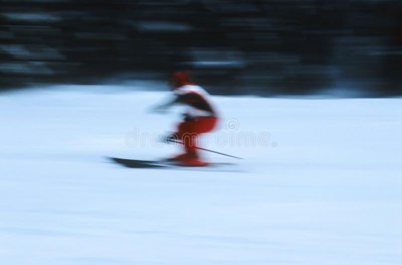 Skiër In Actie 6 Stock Afbeelding