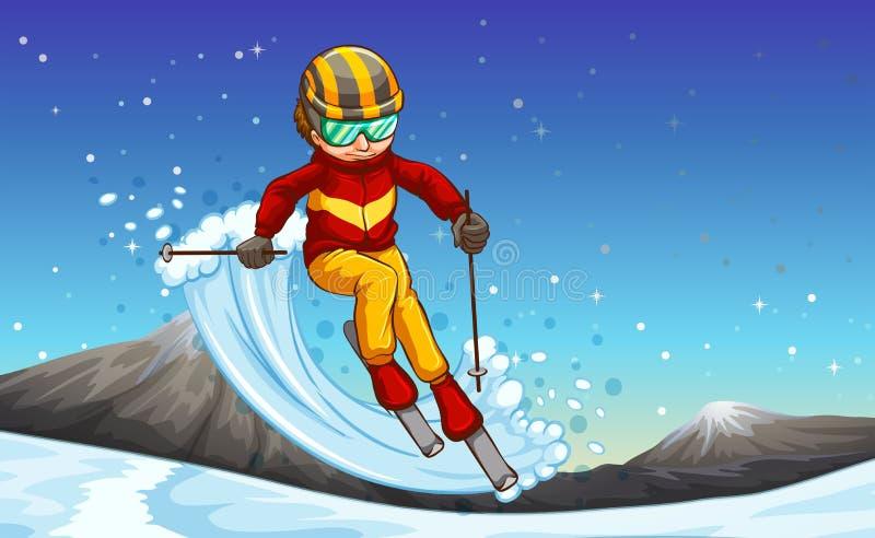 Ski illustration stock