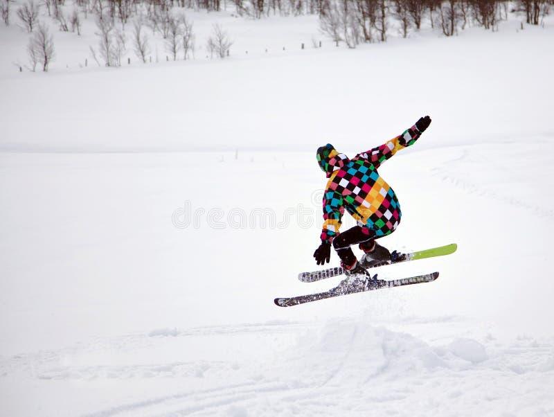 Ski alpestre photographie stock libre de droits