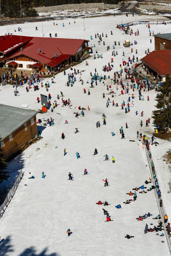 Ski alpin de masse photos libres de droits