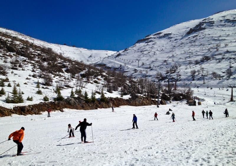 Download Ski Area editorial photo. Image of blue, people, scene - 29287041