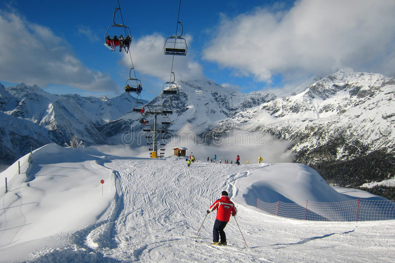 Download The Ski Area stock image. Image of forest, daylight, picture - 3978127