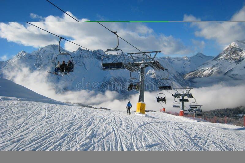 Download The Ski Area stock photo. Image of mountains, alps, alpine - 3978272