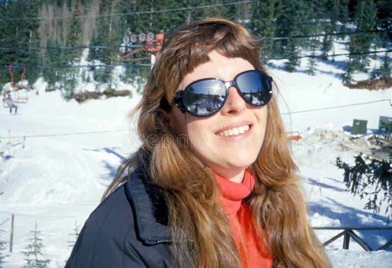 Ski area sunshine stock images