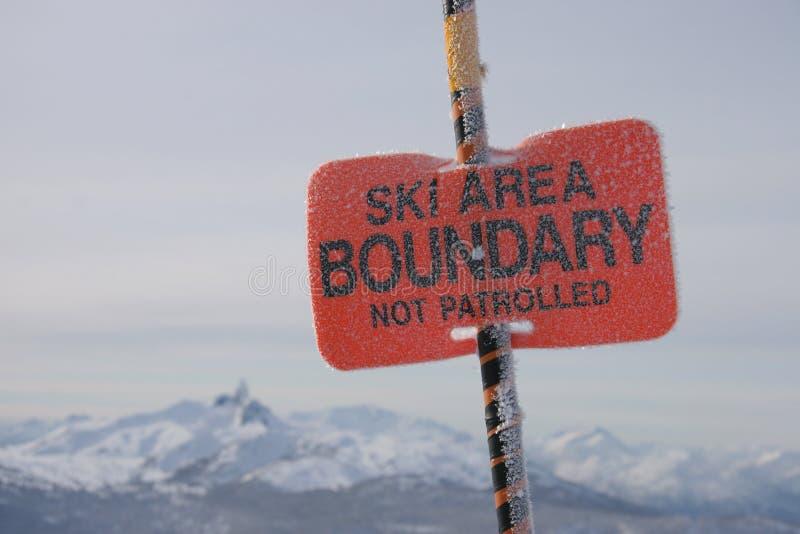 Ski-Bereichsgrenze lizenzfreie stockfotos