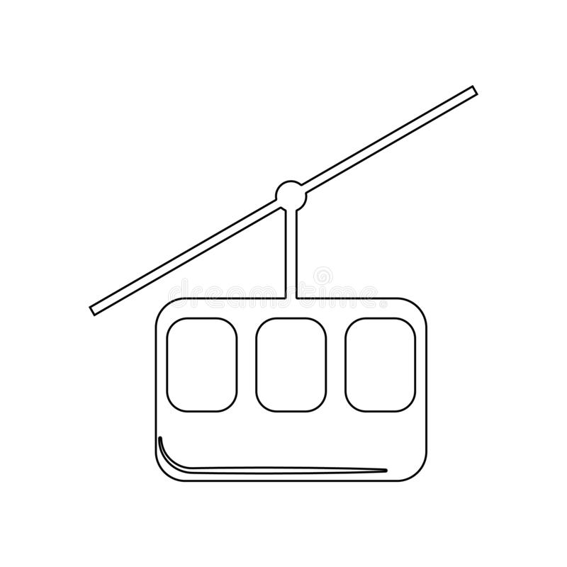 Ski cable lift for ski and winter sports icon. Element of Winter for mobile concept and web apps icon. Outline, thin line icon for vector illustration