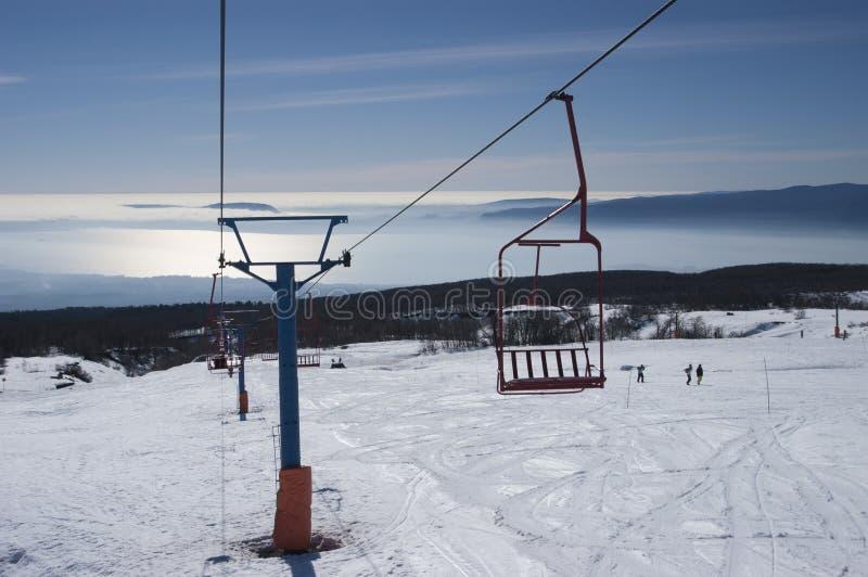 Ski Center, Lake Villarrica. Lake Villarrica from Pucon ski center, region of Araucania Chile royalty free stock photos