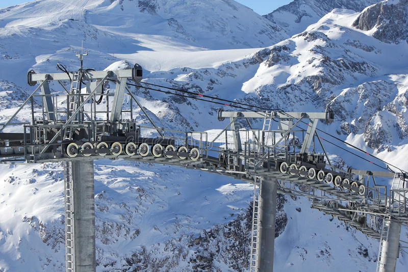 Download Ski chair lift stock image. Image of chairlift, winter - 22899743