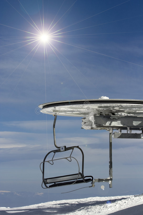 Download Ski chair-lift. stock photo. Image of clouds, lift, winter - 8748236