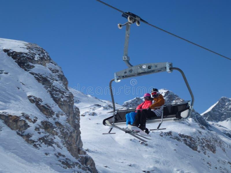 Ski Chairlift fotos de archivo libres de regalías