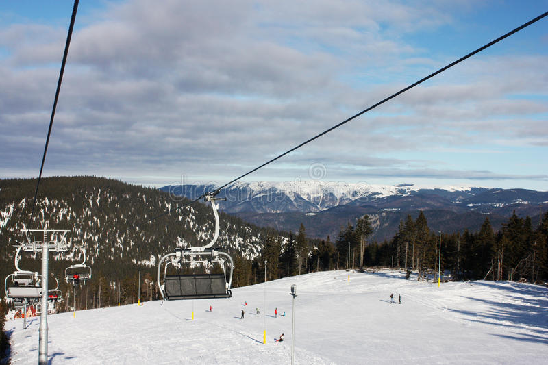 Download Ski Chairlift. Winter. Mountain Background Stock Image - Image: 22662279