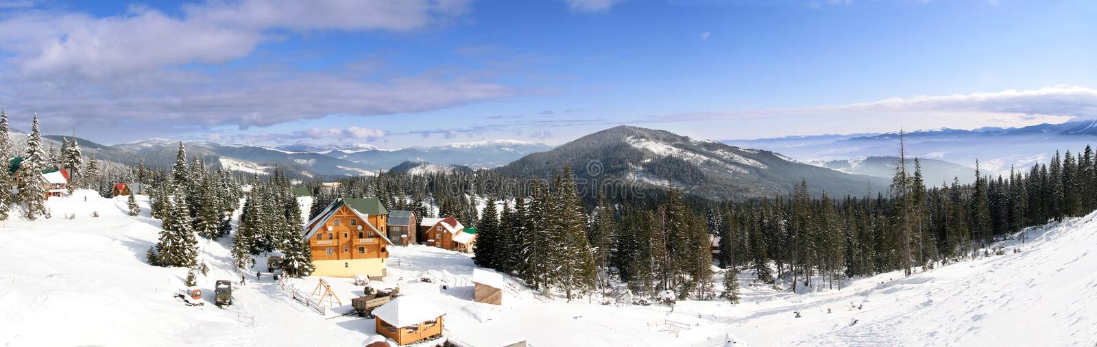 Ski chalet royalty free stock images