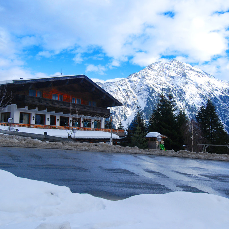Download Ski chalet stock image. Image of remote, mountain, single - 4626223