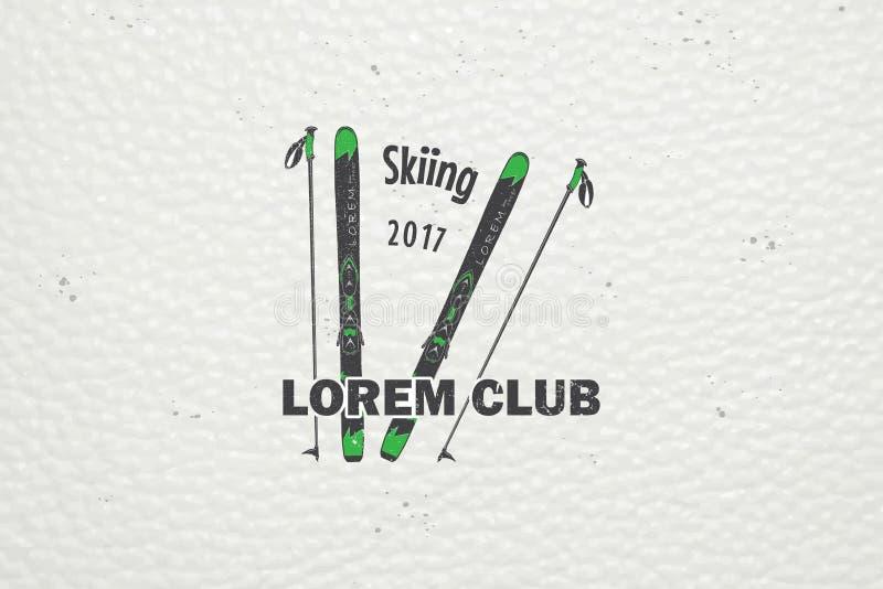 Ski Club Team. Mountain and Outdoor Adventures. stock image