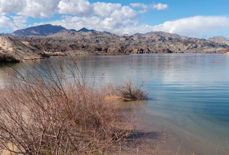 Ski Cove sul Mohave del lago, Arizona fotografia stock