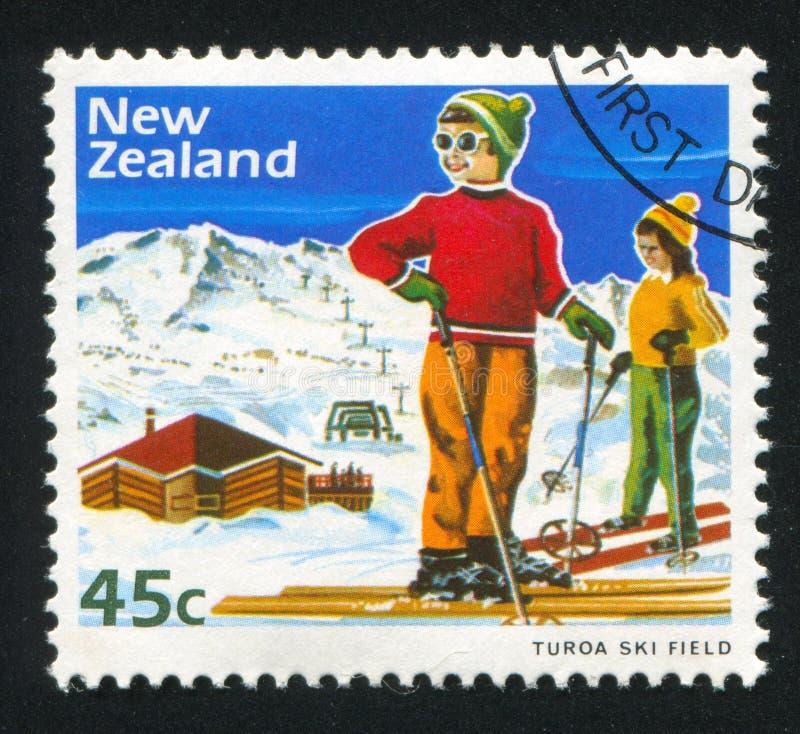 Ski d'enfants image stock