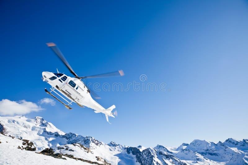 ski d'hélicoptère de heli photos stock