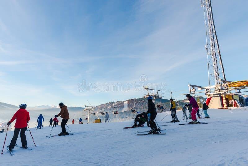 Ski d'hiver photographie stock libre de droits