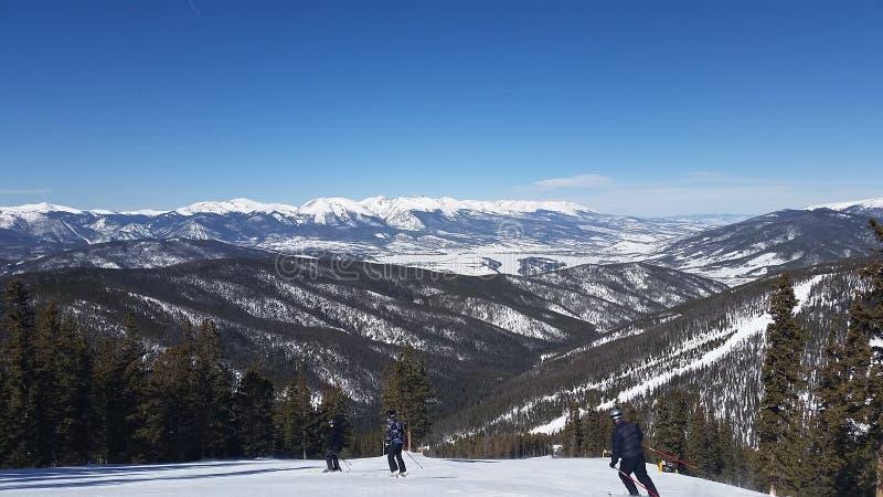 Ski d'hiver dans le Colorado coloré image stock