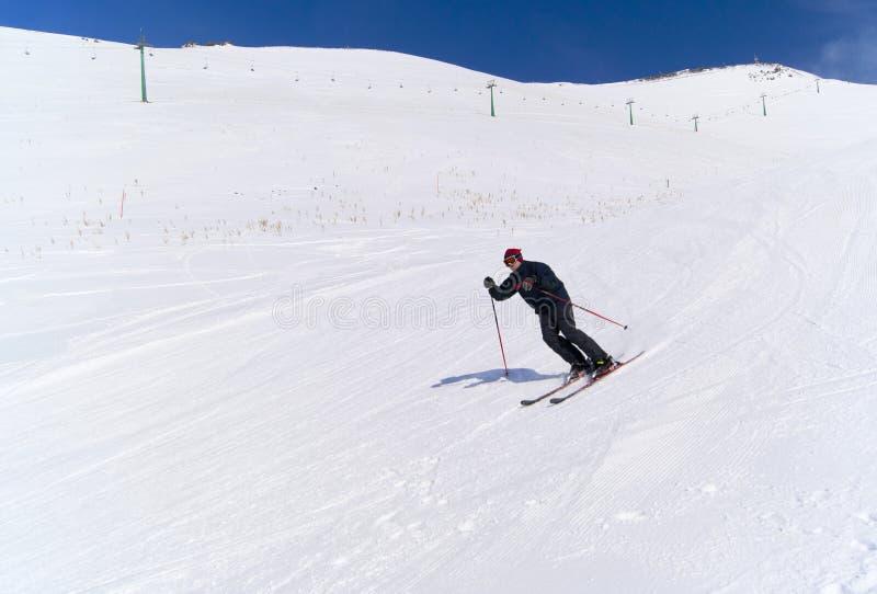 Ski dans Palandoken image libre de droits