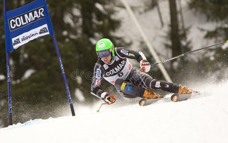 SKI: De alpiene ReuzeSlalom van Alta Badia van de Kop van de Wereld van de Ski royalty-vrije stock afbeelding