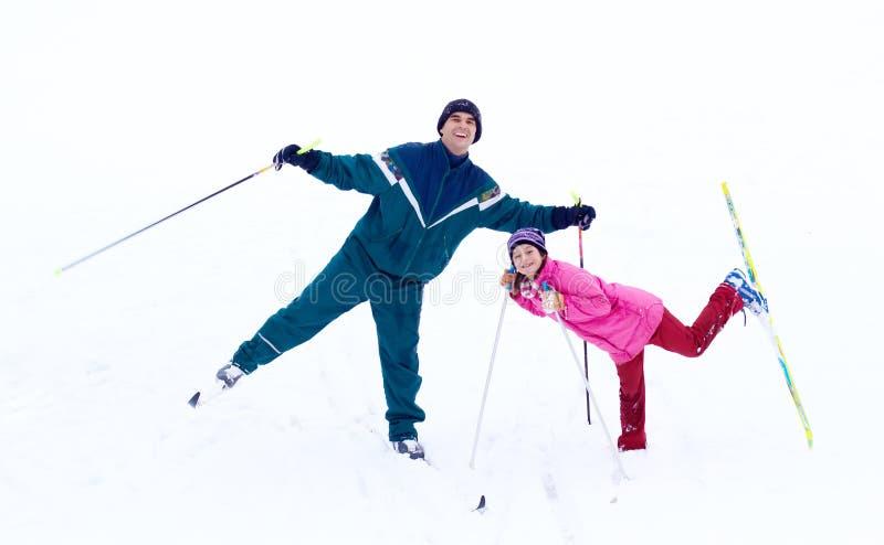 Ski de famille image libre de droits