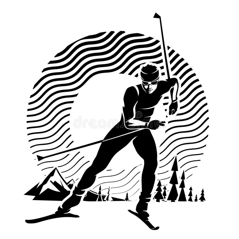 Ski de fond illustration stock