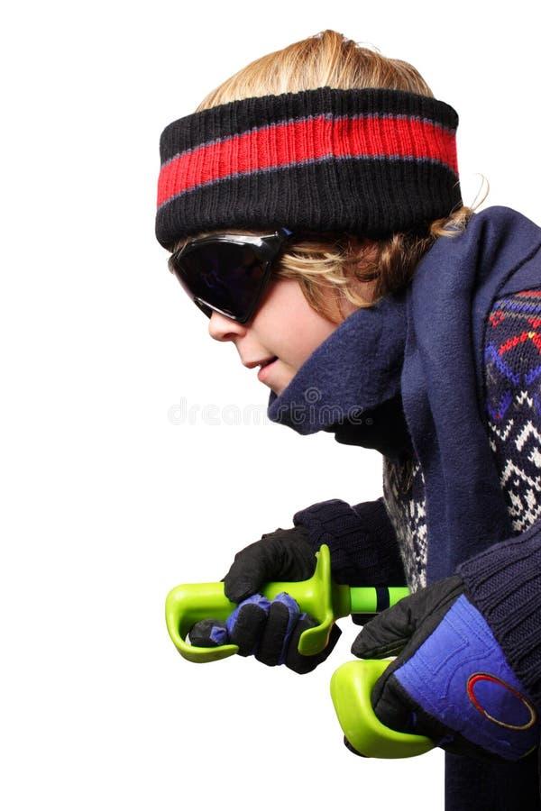 Ski de garçon photos libres de droits