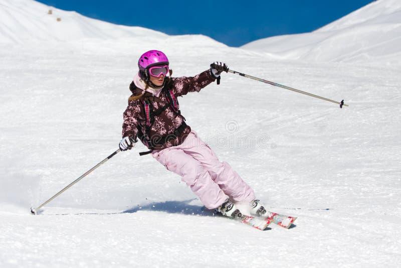 Ski de jeune femme photo libre de droits