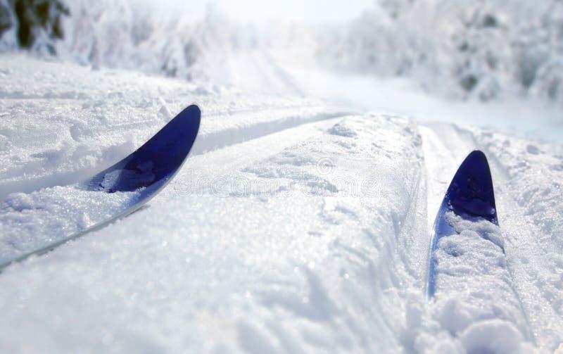 Ski de pays en travers image stock