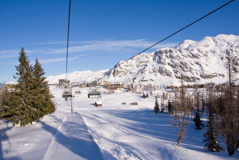 ski de télésiège photographie stock