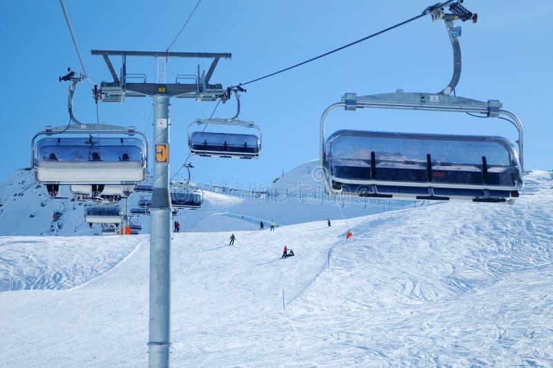 ski de télésiège images libres de droits