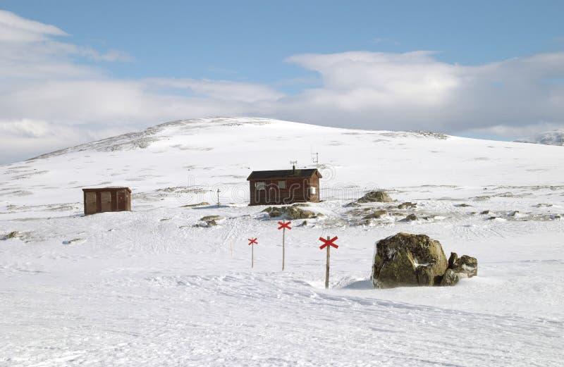 Ski, Der Spur Wandert Lizenzfreie Stockfotos