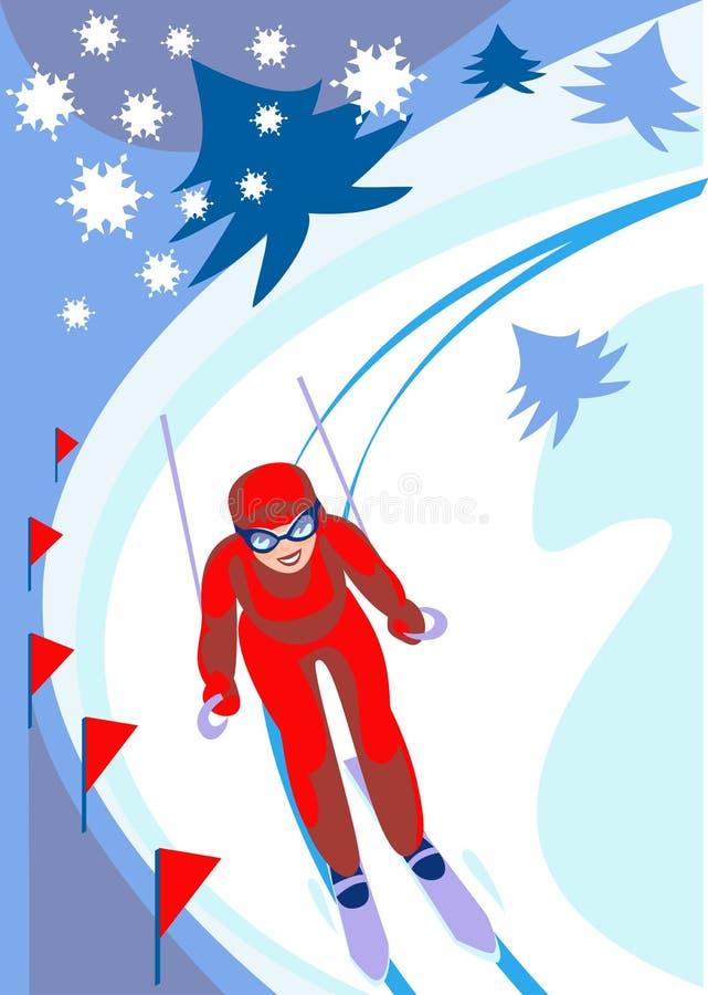 Ski_descent vektor abbildung