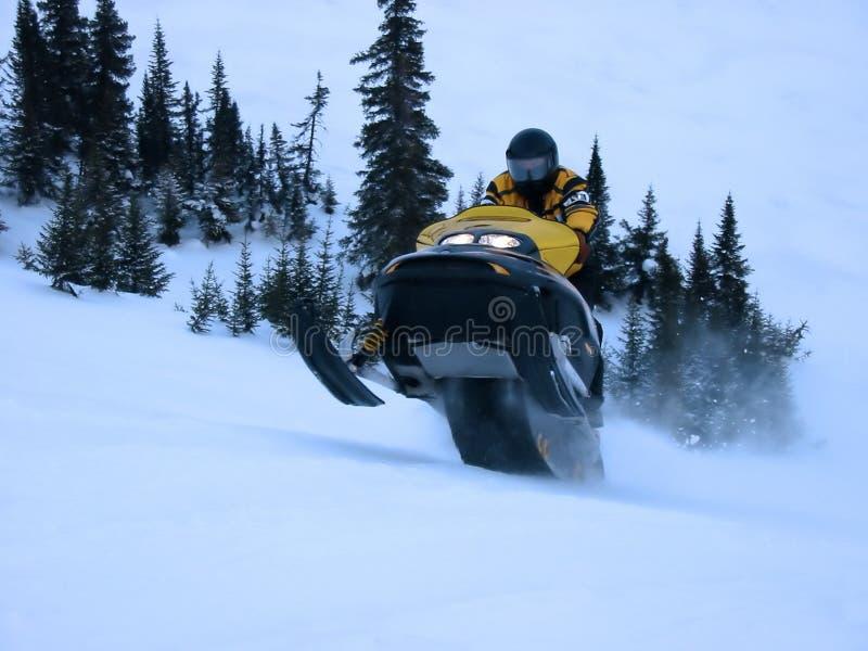 Ski-Doo Die Sprong Neemt Royalty-vrije Stock Foto
