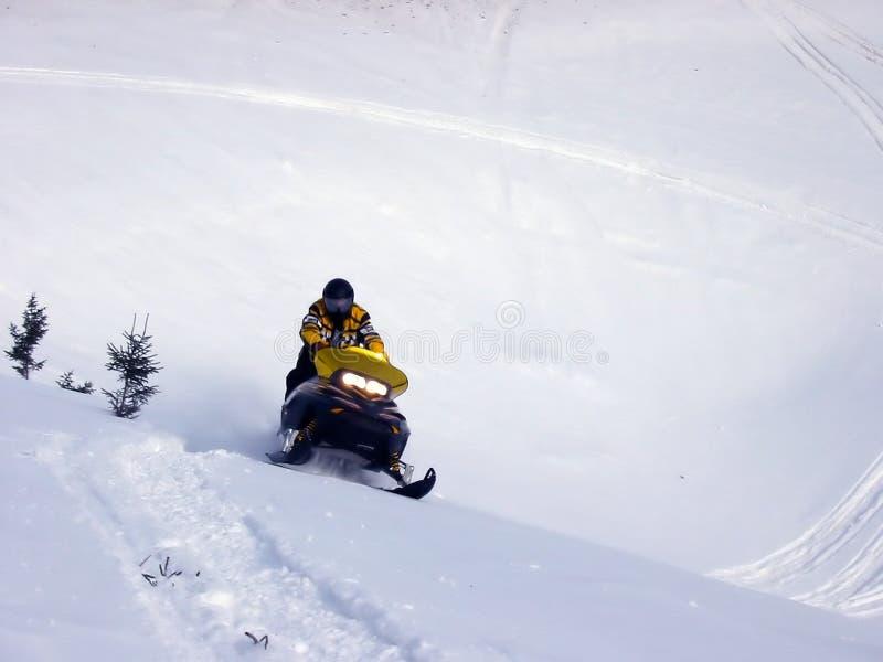 Ski-Doo in Sneeuw stock afbeeldingen