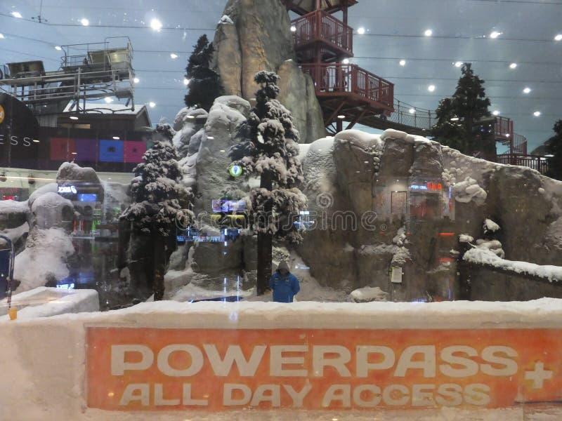 Ski Dubai at Mall of the Emirates in Dubai, UAE stock image