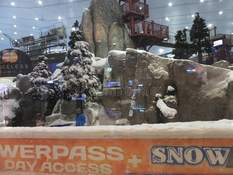 Ski Dubai at Mall of the Emirates in Dubai, UAE. Ski Dubai is the Middle East's first indoor ski resort and snow park and is part of Mall of the stock photos