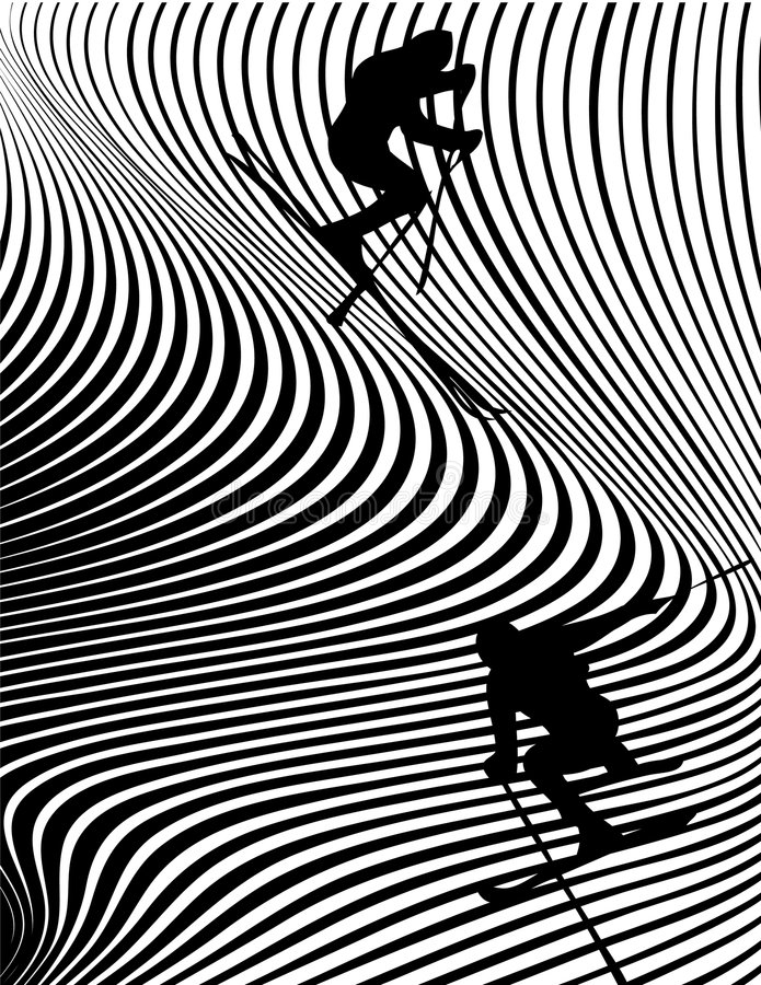 ski ekstremalną ilustracji