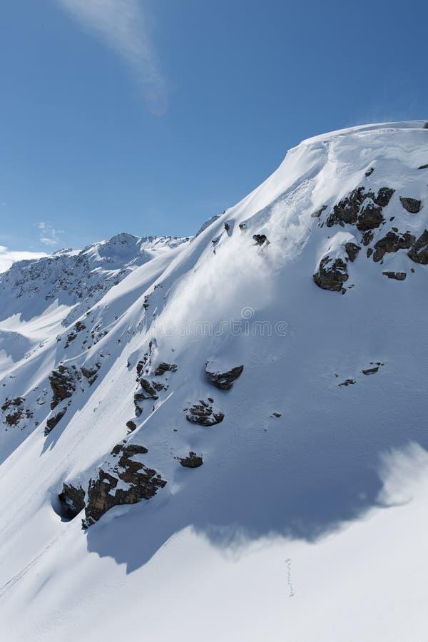 Ski en poudre photographie stock