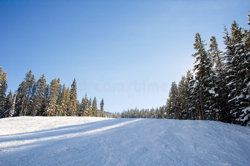 Ski en snowboard hellingen royalty-vrije stock foto
