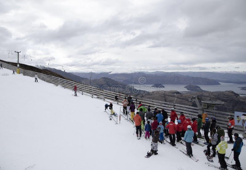 Ski?end Nieuw Zeeland stock foto's