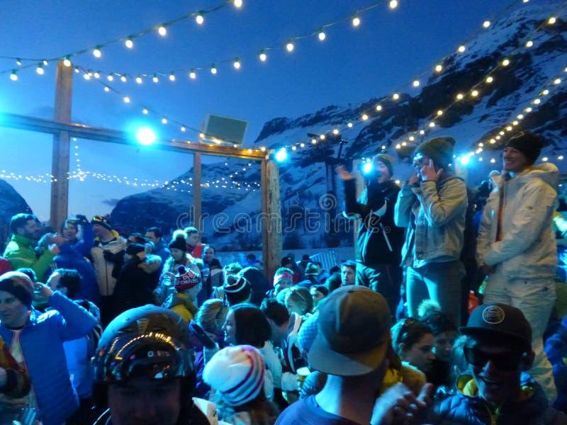 Ski extérieur d'Apres photos libres de droits