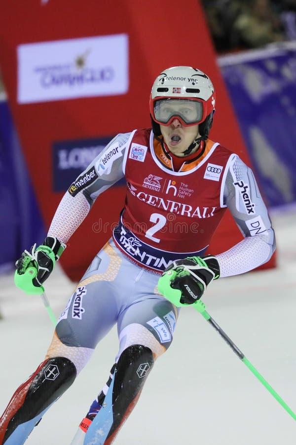 Ski FIS AUDI World Cup - Slalom Men royalty free stock photo