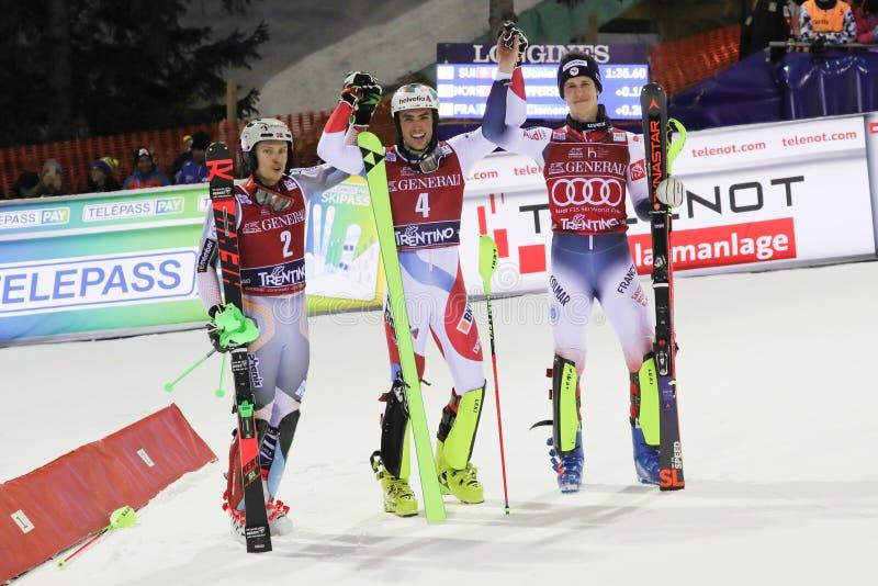 Ski FIS AUDI World Cup - Slalom Men royalty free stock image